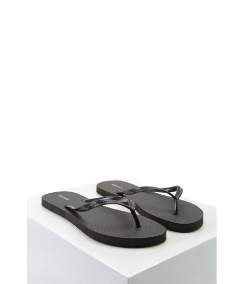 Incaltaminte Femei Forever21 Textured Flip Flops Black