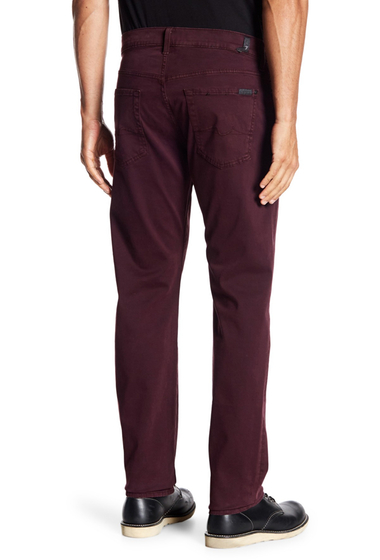 Imbracaminte Barbati 7 For All Mankind The Straight Leg Luxe Performance Jeans EGGPLANT