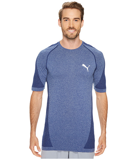 Imbracaminte Barbati PUMA evoKNIT Better Tee Blue Depths Heather