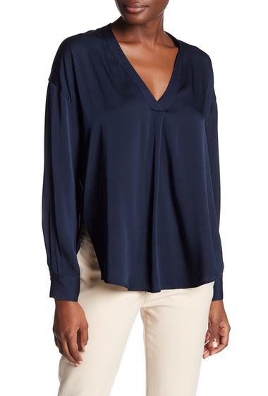 Imbracaminte Femei Vince Crossover Vee Silk Blend Blouse COASTAL BLUE