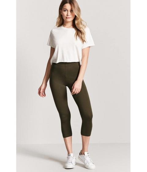 Imbracaminte Femei Forever21 Basic Capri Leggings OLIVE