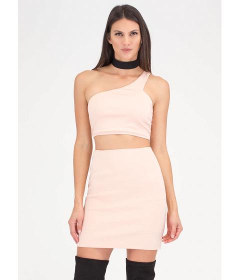 Imbracaminte Femei CheapChic It Only Takes One-shoulder Cut-out Dress Blush