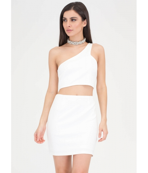 Imbracaminte Femei CheapChic It Only Takes One-shoulder Cut-out Dress Ivory