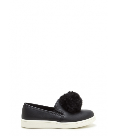 Incaltaminte Femei CheapChic Pom Squad Slip-on Pom-pom Sneakers Black