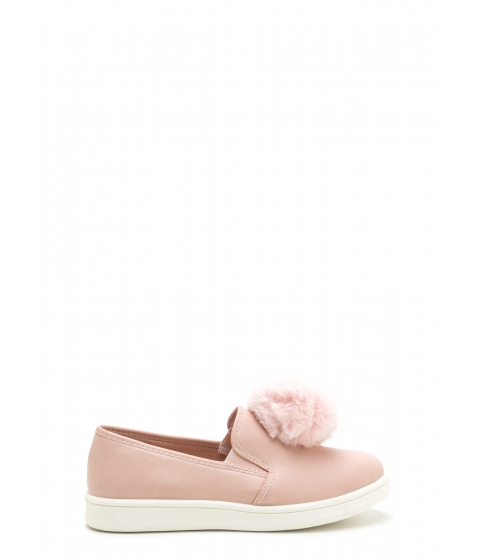 Incaltaminte Femei CheapChic Pom Squad Slip-on Pom-pom Sneakers Blush