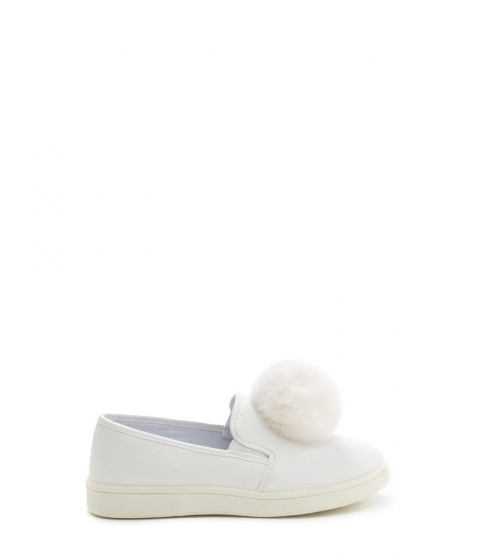 Incaltaminte Femei CheapChic Pom Squad Slip-on Pom-pom Sneakers White