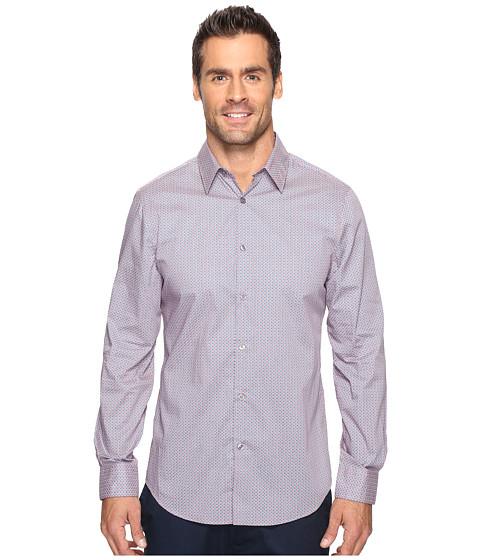 Imbracaminte Barbati Perry Ellis Regulat Fit Stretch Mini Paisley Shirt Mineral Red