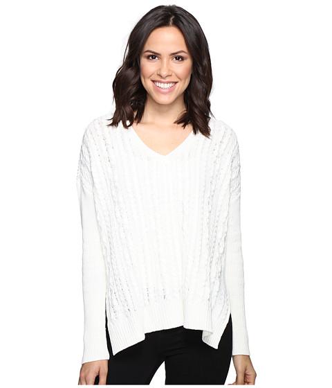 Imbracaminte Femei Michael Stars Alpine Knit V-Neck Cable Knit Sweater Ivory