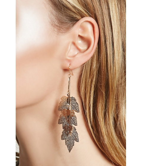 Bijuterii Femei Forever21 Leaf Drop Earrings Gold