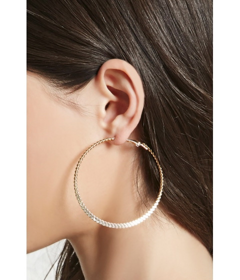 Bijuterii Femei Forever21 Twisted Hoop Earrings Gold