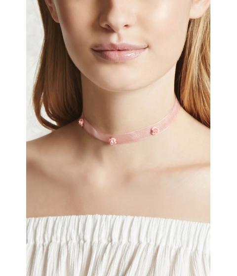 Bijuterii Femei Forever21 Rose Choker Light pink