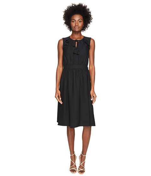 Imbracaminte Femei Kate Spade New York Rambling Roses Crepe Ruffle Fit and Flare Dress Black