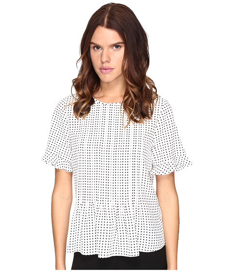 Imbracaminte Femei Kate Spade New York Pin Dot Pintuck Top CreamBlack