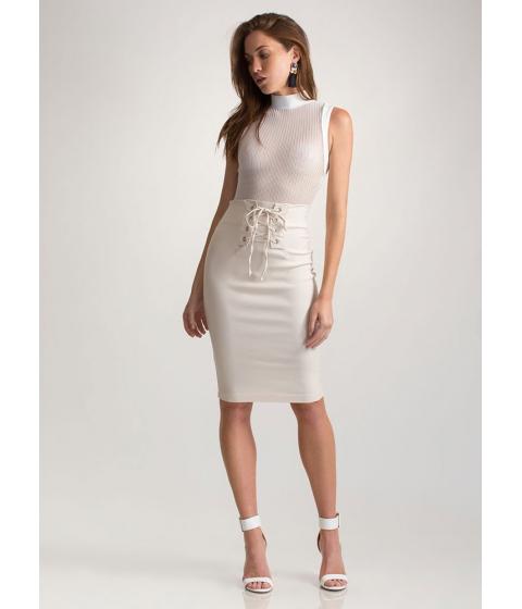 Imbracaminte Femei CheapChic Due Corset High-waisted Lace-up Skirt Bone