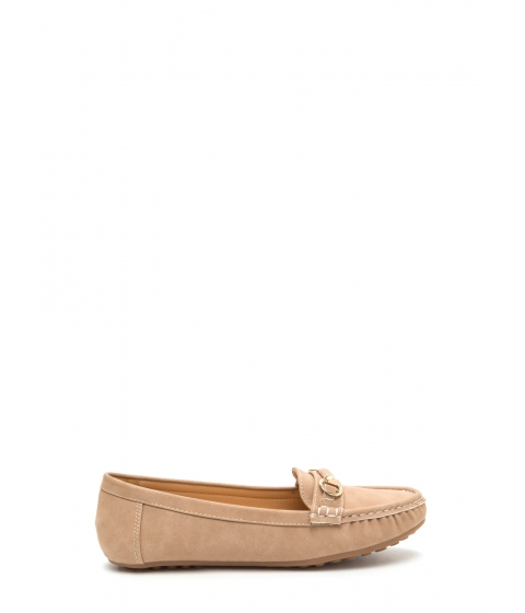 Incaltaminte Femei CheapChic Yes Smoking Faux Suede Loafers Taupe
