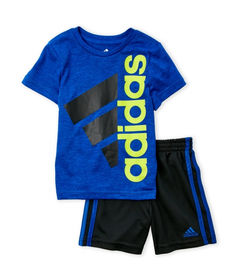 Imbracaminte Baieti adidas (Toddler Boys) Two-Piece Logo Tee Basketball Shorts Set Collegiate Royal Black