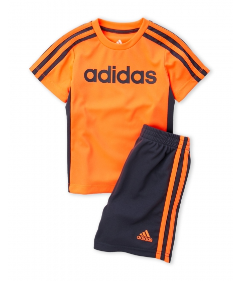 Imbracaminte Baieti adidas (Toddler Boys) Two-Piece Logo Tee Active Shorts Set Solar Orange