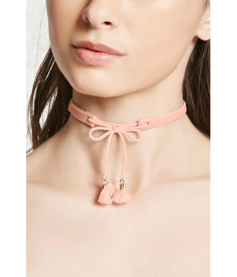 Bijuterii Femei Forever21 Velvet Lace-Up Choker Blush