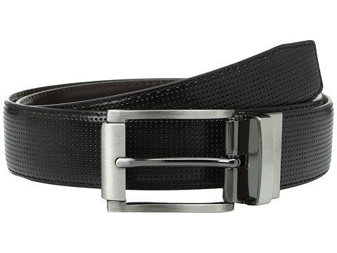 Accesorii Barbati Steve Madden 35mm Perforated Dress Belt BlackBrown
