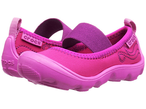 Incaltaminte Fete Crocs Duet Busy Day Mary Jane PS (ToddlerLittle Kid) Candy PinkParty Pink