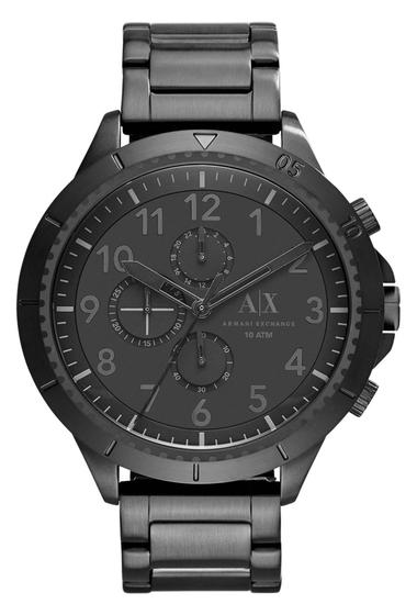 Ceasuri Barbati AX Armani Exchange Mens Romulous Bracelet Watch 50mm BLACK IP