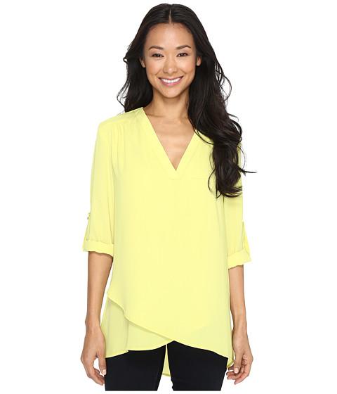 Imbracaminte Femei Karen Kane Deep V Wrap Shirt Lime