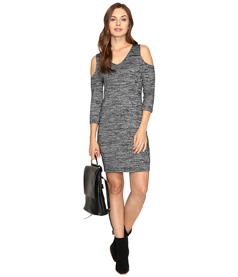 Imbracaminte Femei kensie Space Dye Jersey Dress KSDK7418 Black Combo