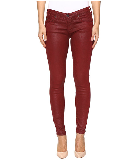 Imbracaminte Femei AG Adriano Goldschmied Leggings Ankle in Crackle Ruby Rouge Crackle Ruby Rouge