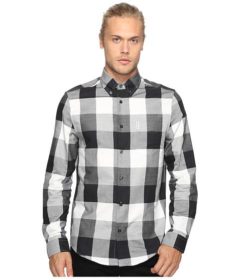 Imbracaminte Barbati Ben Sherman Long Sleeve Textured Oversized Gingham Woven Shirt True Black