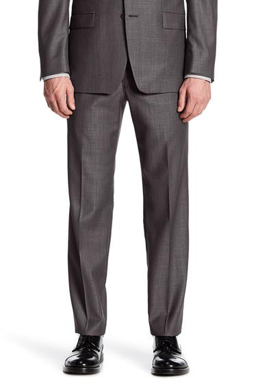 Imbracaminte Barbati Calvin Klein Charcoal Pin-Dot Slim Fit Wool Pant CHARCOAL