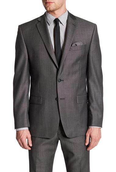 Imbracaminte Barbati Calvin Klein Charcoal Pin-Dot Two Button Notch Lapel Slim Fit Suit Separate Jacket CHARCOAL