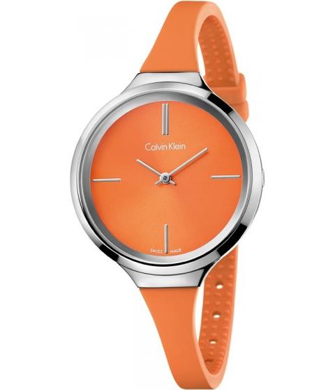 Ceasuri Femei Calvin Klein Lively Orange Dial Ladies Watch Orange