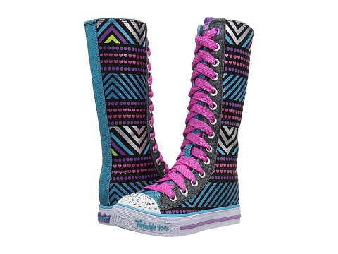 Incaltaminte Fete SKECHERS Twinkle Toes - Shuffles 10700L Lights (Little KidBig Kid) BlackMulti