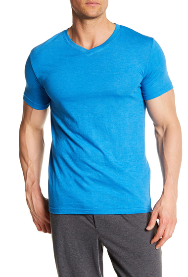 Imbracaminte Barbati Bottoms Out Short Sleeve Modern V-Neck Tee FRENCH BLUE