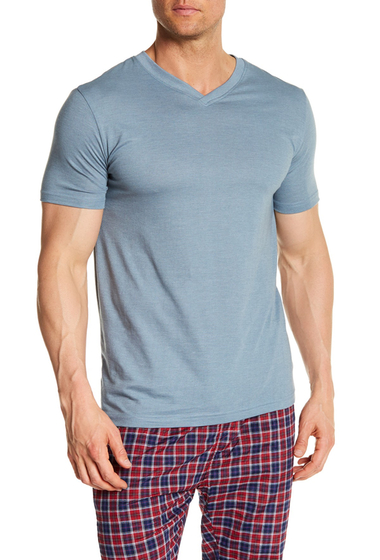 Imbracaminte Barbati Bottoms Out Short Sleeve Modern V-Neck Tee STONE