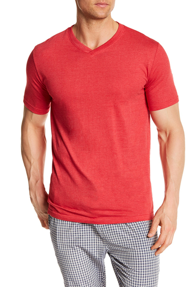Imbracaminte Barbati Bottoms Out Short Sleeve Modern V-Neck Tee BRIGHT RED
