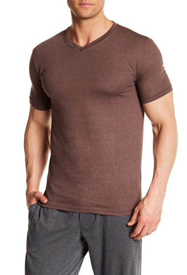 Imbracaminte Barbati Bottoms Out Short Sleeve Modern V-Neck Tee COFFEE