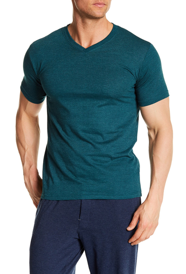 Imbracaminte Barbati Bottoms Out Short Sleeve Modern V-Neck Tee FOREST