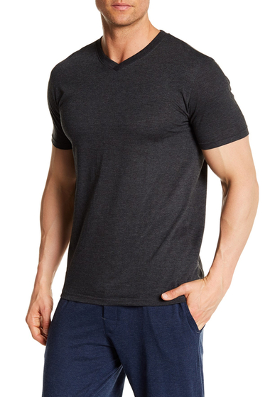 Imbracaminte Barbati Bottoms Out Short Sleeve Modern V-Neck Tee CHARCOAL