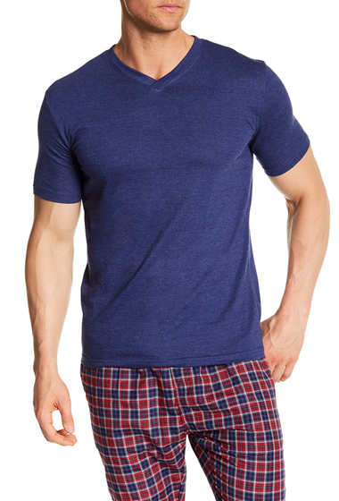 Imbracaminte Barbati Bottoms Out Short Sleeve Modern V-Neck Tee NAVY HEATHER