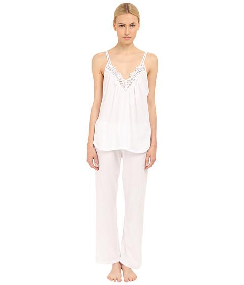Incaltaminte Femei Oscar de la Renta Pima Cotton Pajama Signature White