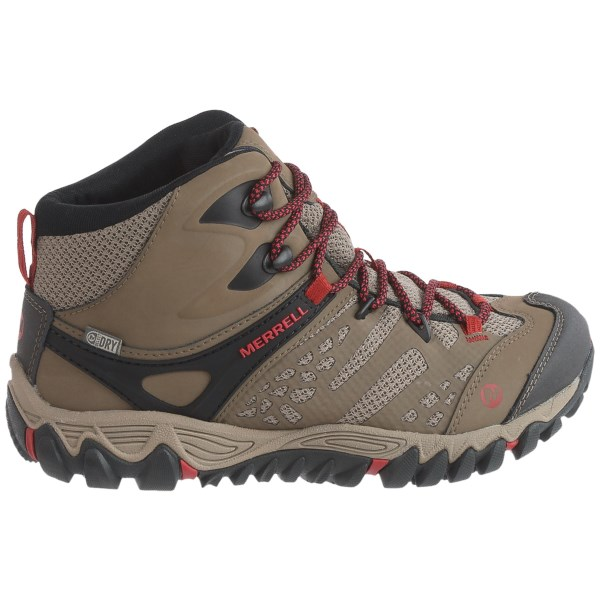Incaltaminte Femei Merrell All Out Blaze Ventilator Mid Hiking Boots - Waterproof Leather BLACK (02)