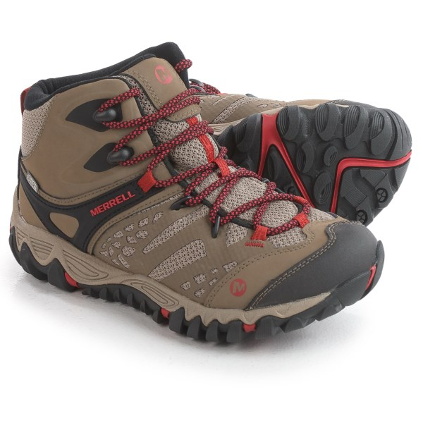 Incaltaminte Femei Merrell All Out Blaze Ventilator Mid Hiking Boots - Waterproof Leather BROWN (01)