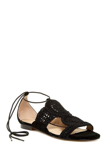 Incaltaminte Femei Catherine Catherine Malandrino Kendoll Crochet Sandal BLACK