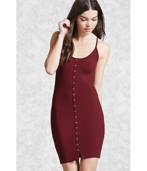 Imbracaminte Femei Forever21 Ribbed Knit Bodycon Dress Berry