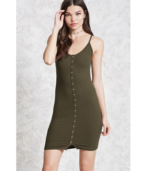 Imbracaminte Femei Forever21 Ribbed Knit Bodycon Dress Dark olive