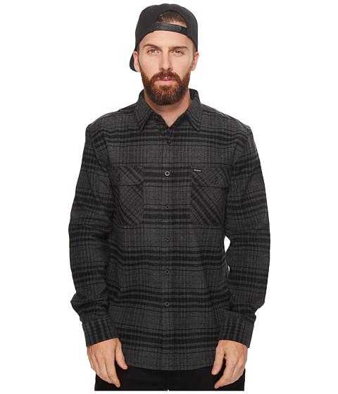 Imbracaminte Barbati Brixton Bowery Long Sleeve Flannel BlackHeather Charcoal