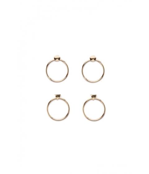 Bijuterii Femei Forever21 Circle Drop Earring Set Gold
