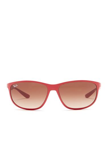 Ochelari Femei Ray-Ban Mens Rectangular Propionate Frame Sunglasses MATTE AMARANTH 612313