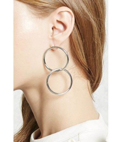 Bijuterii Femei Forever21 Geo Cutout Drop Earrings Silver